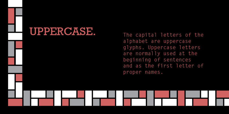 u is for uppercase