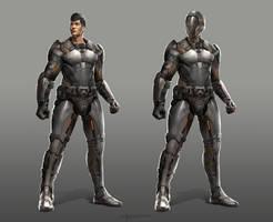 Sci-fi character design by TheRafa
