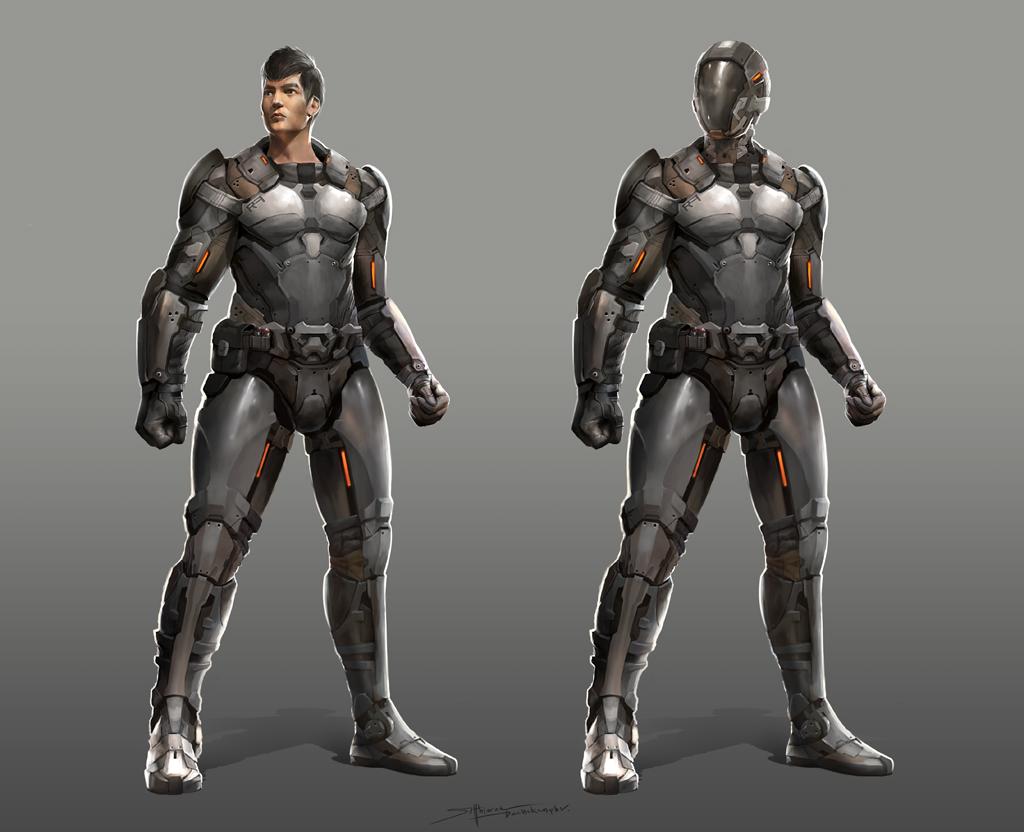 Sci-fi character design by TheRafa on DeviantArt Pacific Rim Concept Art Pilot