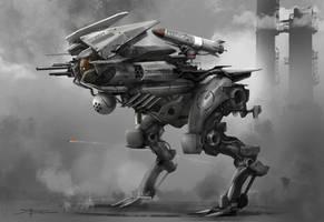Raptor mech speed painting by TheRafa