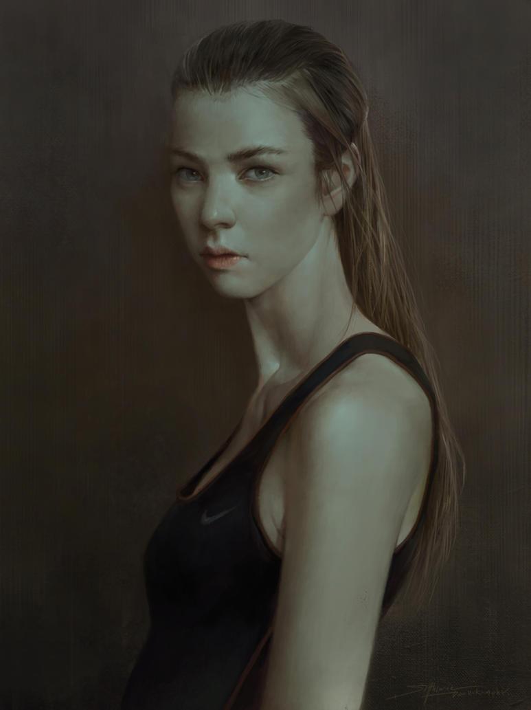 Portrait of  Sport Girl by TheRafa