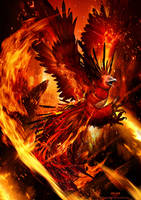 Phoenix on Fire by TheRafa