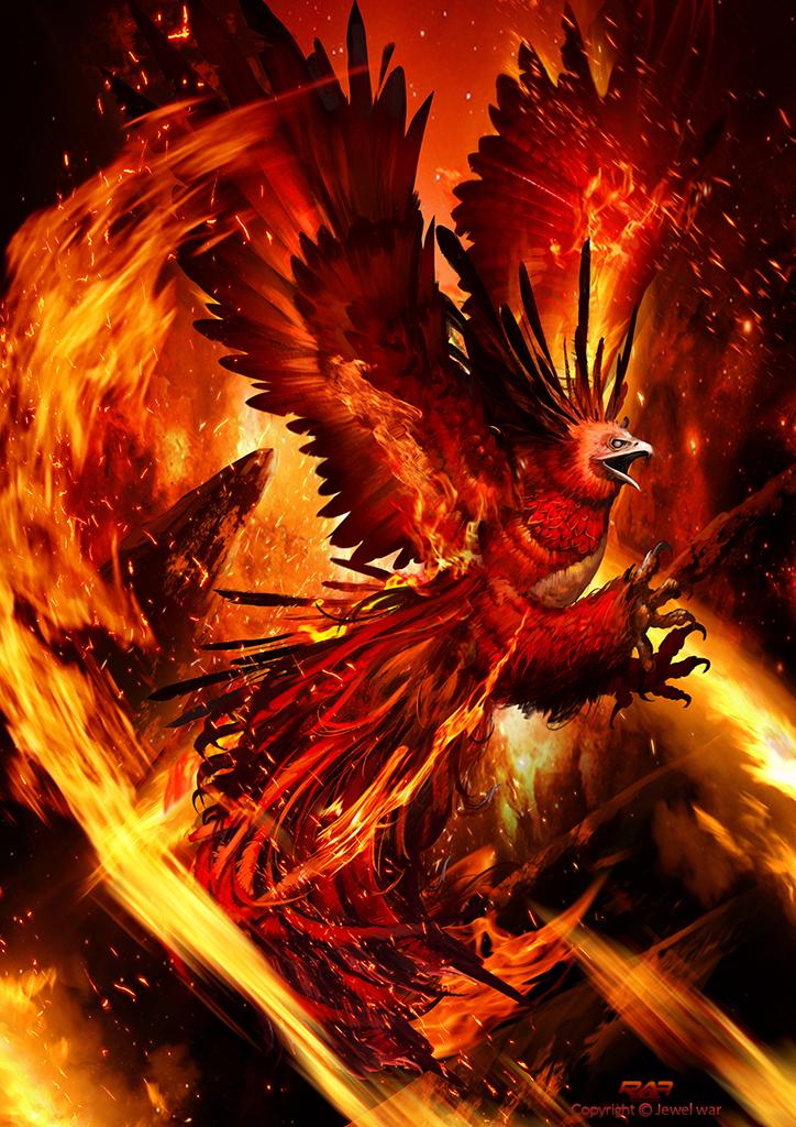phoenix on fire by therafa on deviantart