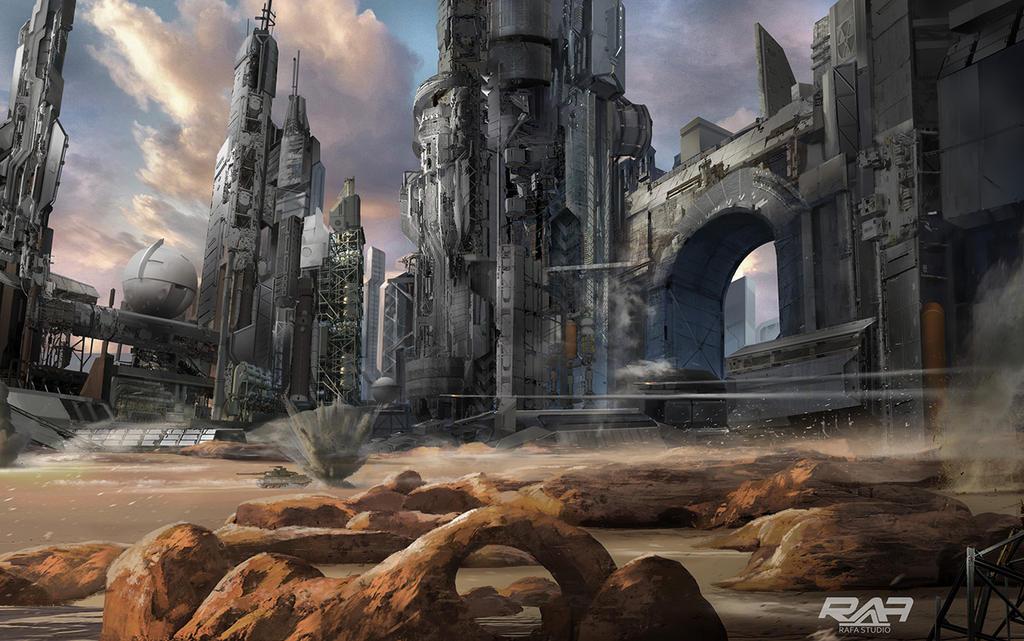 Sci-fi concept art by TheRafa