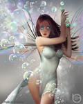 Fairy with magic bubbles