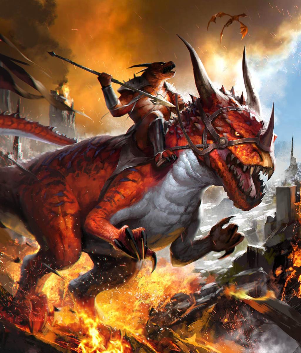 Fire Drake Rider by TheRafa