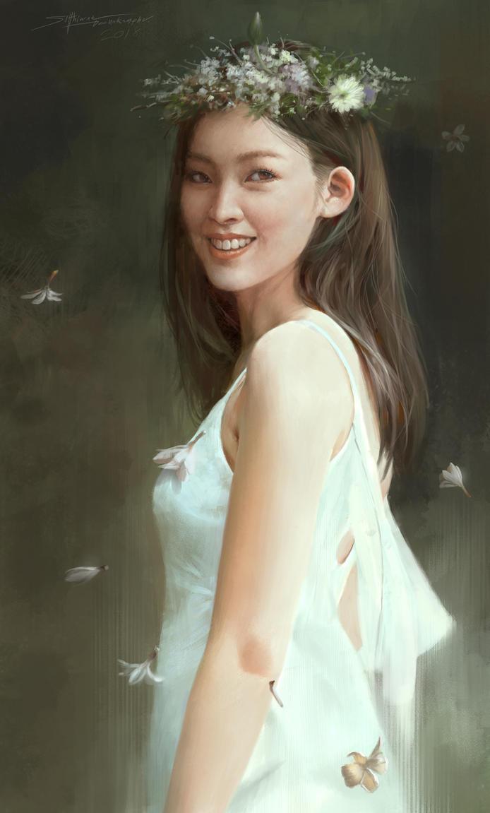 My wife's portrait by TheRafa