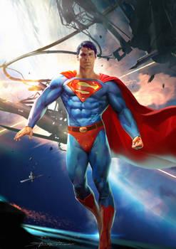 Old school Super Man Fan Art
