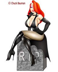 Jessica Rabbit as Elvira Pinup by Chuck-Bauman