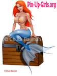Sexy Mermaid Pin-Up Girl