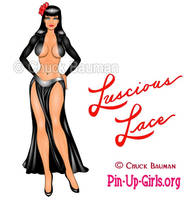 Luscious Lace Bomber Nose Art Pinup Girl by Chuck-Bauman