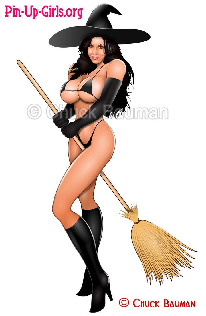 up pin witch sexy girls cartoon Halloween