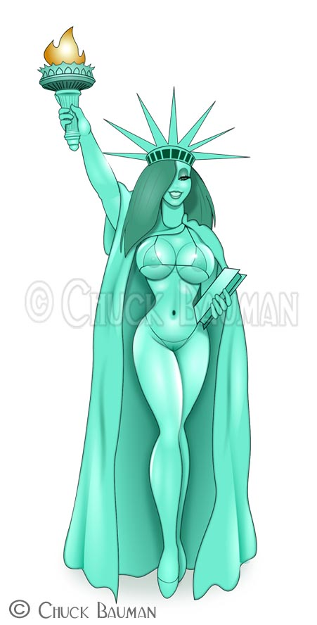 Jessica Rabbit Statue of Liberty by Chuck-Bauman