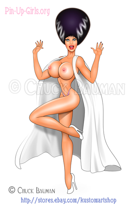 Elvira as the Bride Of Frankenstein - Topless! by Chuck-Bauman
