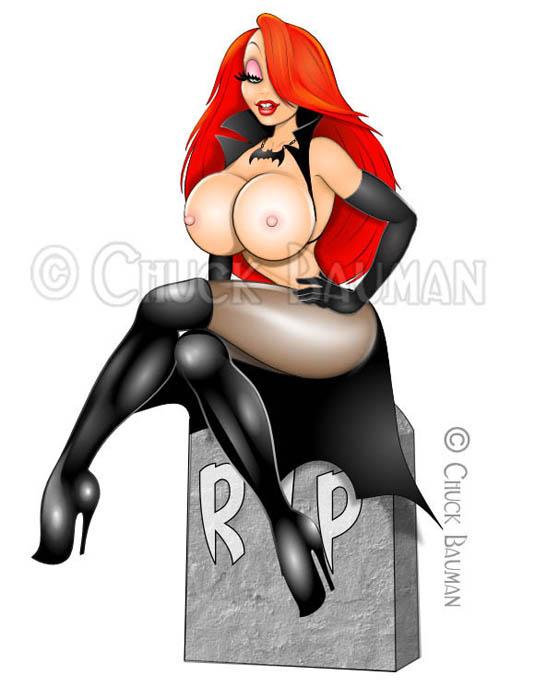 Jessica Rabbit Vampira 2015 Nude! by Chuck-Bauman