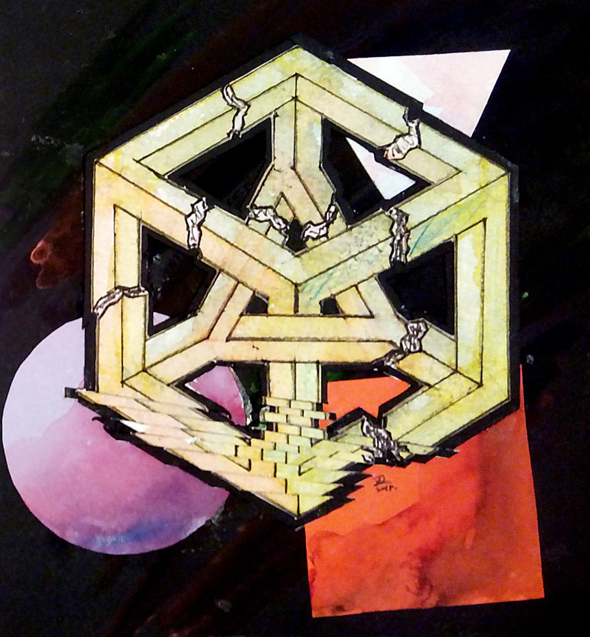 Cubistic Destruction of a Rational Mind by webbugt