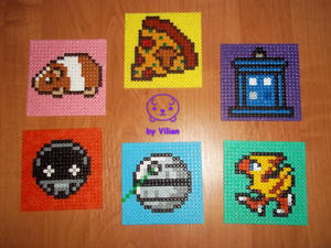 Set of my personal Hama coasters