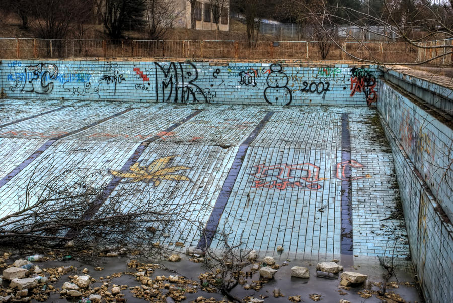 Very old devastated pool by frikt on deviantart for What to do with old swimming pool