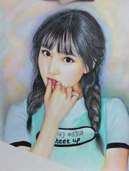 twice nayeon color pencil portrait by Thesadsteven