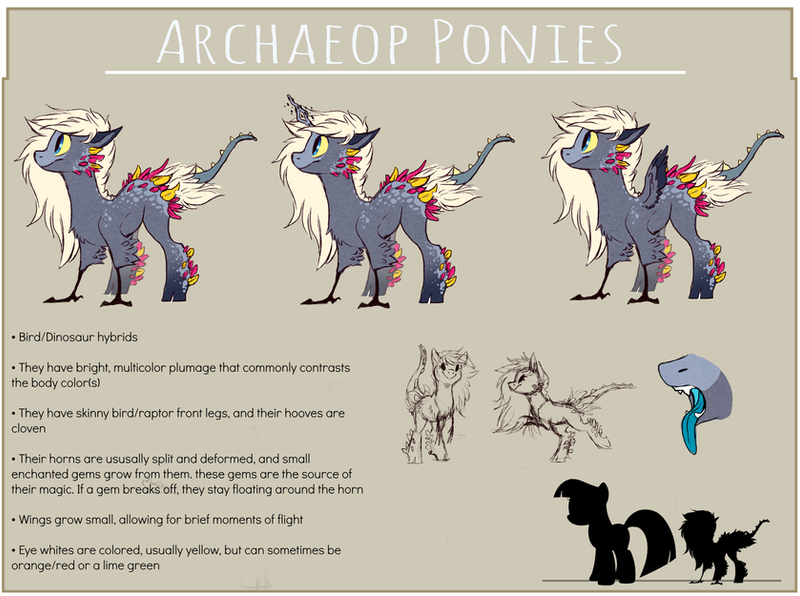 Archaeop Ponies [species ref] by Sutexii