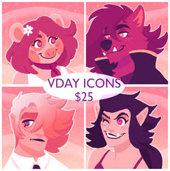 Valentines Day Icon Commissions Open!!
