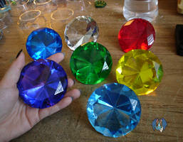 large chaos emeralds by tierafoxglove