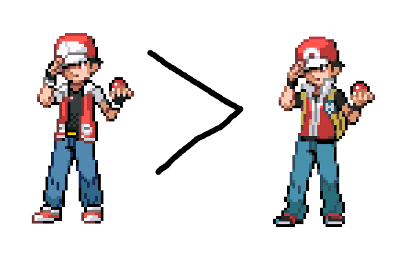 Pokemon Trainer Red Sprite Images | Pokemon Images