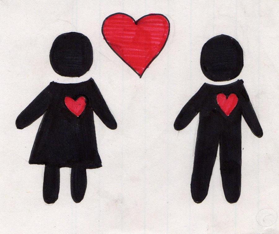 2 people in love by caramelapopcorn on DeviantArt