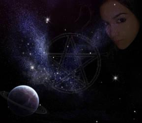 Goddess in Space by Oak-Elfglitter