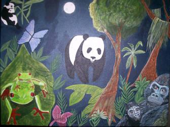 My Hero Painting by Oak-Elfglitter