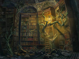 Mystic Library by Evitaer
