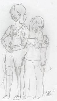 Intern Dana and Vithya