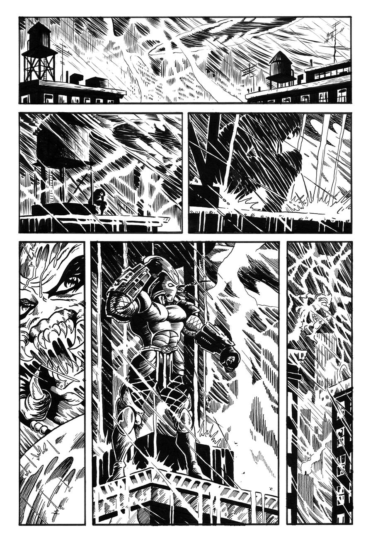 Batman vs Predator pg1 Stinks by NickJustus