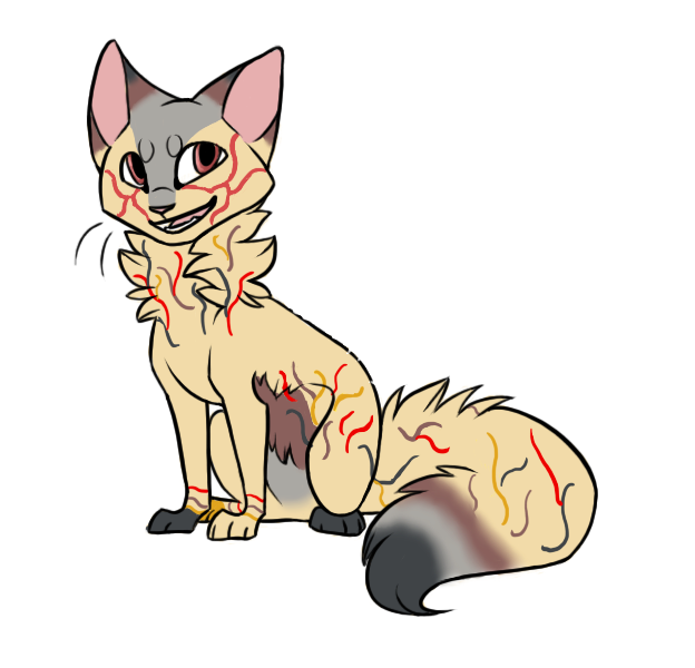 Flame Cat Adopt | Open! Lower price! by oOFrosteehOo