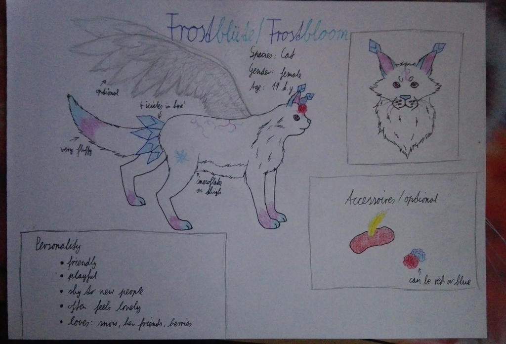 Frostbluete (Fursona) Reference Sheet by oOFrosteehOo