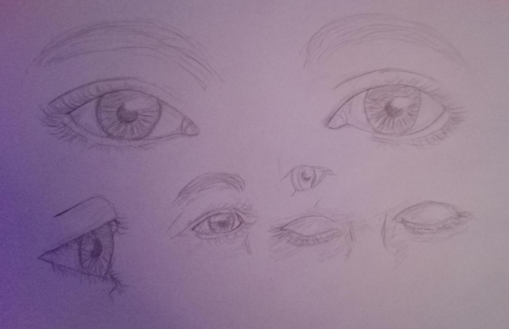 Drawing Eyes Study by oOFrosteehOo