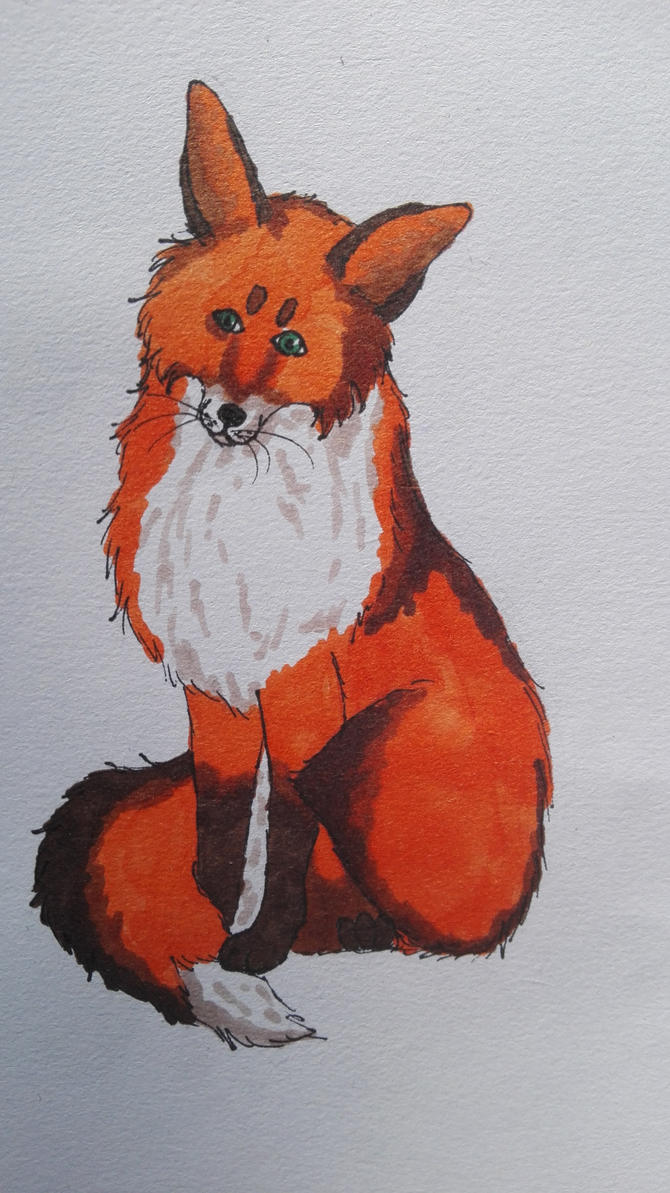 Copic Fox by oOFrosteehOo