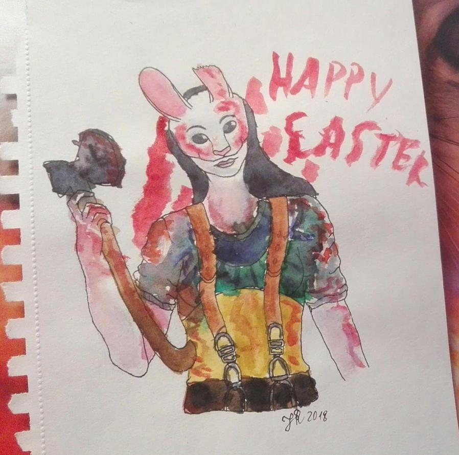 Happy Easter (DbD Fanart) by oOFrosteehOo