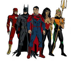 Justice League Redesigned by Elayem