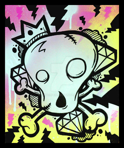Diamond Skull Canvas by SuperFex