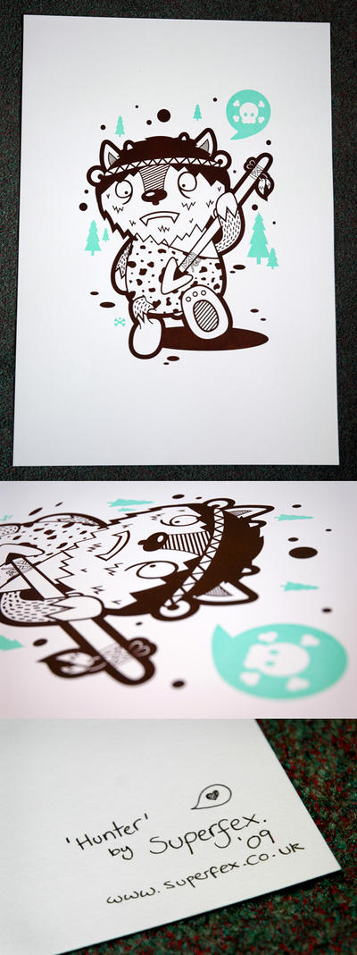 Hunter Screenprint One by SuperFex