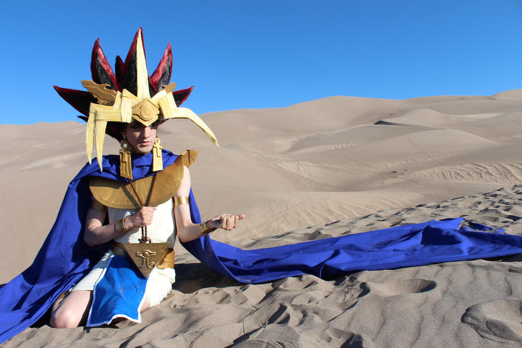Sand and Gold - Pharaoh Atem from Yu-Gi-Oh! by Pharaohmones