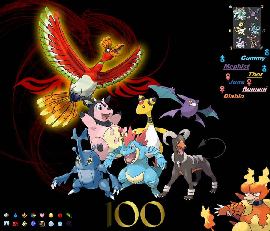 Pokemon Gold team Complete! LEVEL 100! by AncientSun1219 on