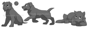 Dog Breeds Chibi Lineart Comissions