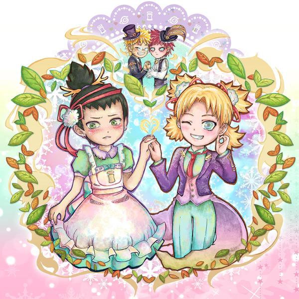ShikaTema and NaruGaa by lilacerise