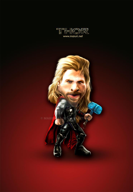 Thor Caricatura Maiuri Net By Maiurinet On Deviantart