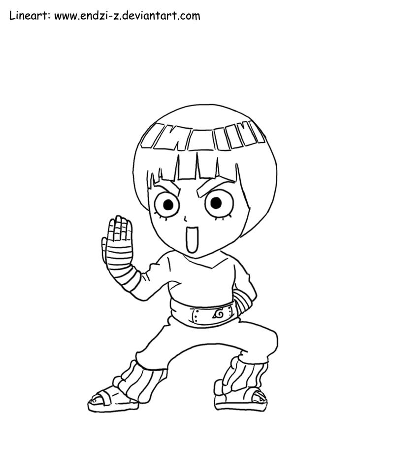 Lee chibi by endzi z on deviantart - Coloriage manga rock ...