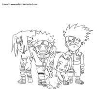 Kakashi Team Chibi by endzi-z