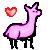 Free Llama Avatar Pink by LittleMissLlamaLover