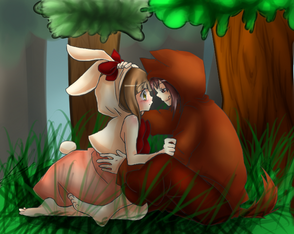 Aruba x Nick- Little Red Riding Hood and the Wolf by Hoshi-Devi-Angy-ZM